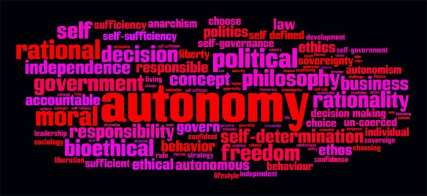 Self governance word cloud