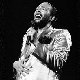 Singer Marvin Gaye performs at Radio City Music Hall in New York City, New York, May 19, 1983. (Photo by Gary Gershoff/Getty Images)