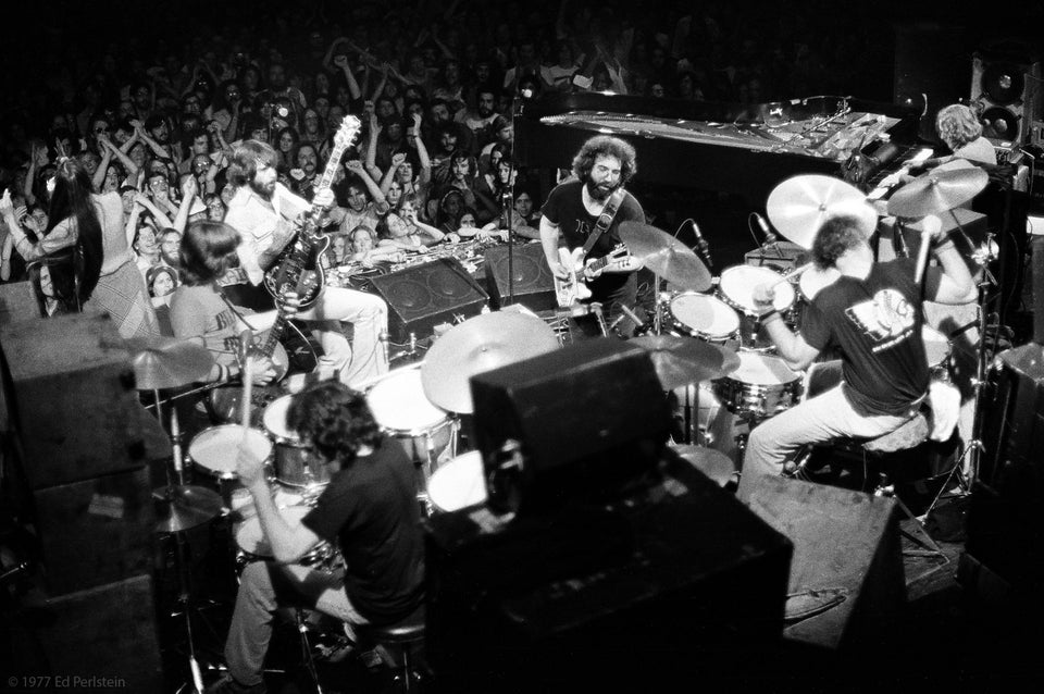 The Grateful Dead on stage