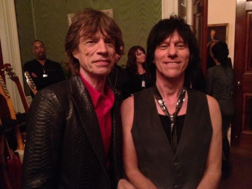 Mick Jagger and Jeff Beck