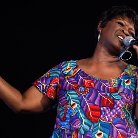 "Irma Thomas (shown performing in 2008) is known as the ""sweet soul queen of New Orleans."""