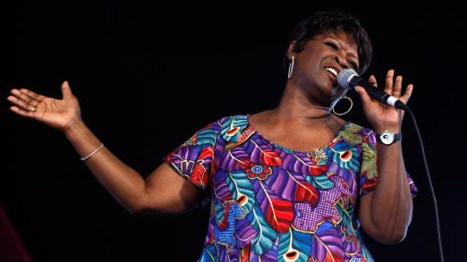 """Irma Thomas (shown performing in 2008) is known as the """"sweet soul queen of New Orleans."""""""