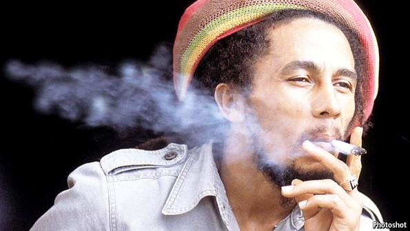 Marley smoking a joint